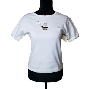 Elise Alessio Women's Embroidered Golf Tee